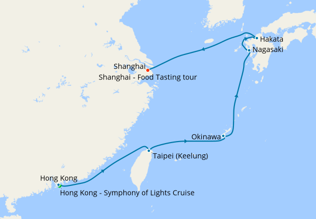Hong Kong Taiwan An To Shanghai With Stays 23 May 2020 14 Nt Shire Princess Cruises Iglucruise