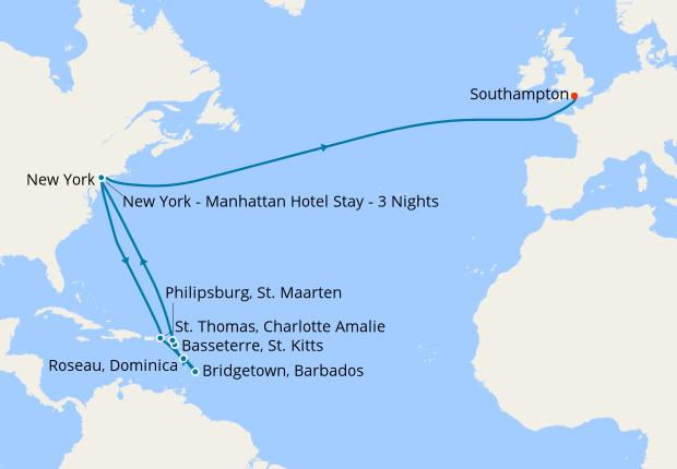 Festive New York, Caribbean & Transatlantic with NYC stay, 19