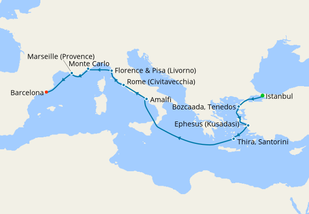 Byzantine in Bloom from Istanbul to Barcelona Luxury Voyage