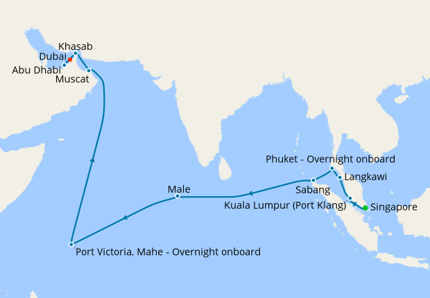 Southeast Asia & The Emirates - Singapore to Dubai, 26 Feb 2020