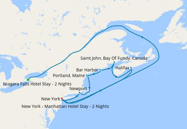 Canada New England Cruises 2020 Niagara Falls, New York + Canada & New England, 2 June 2020 | 12