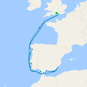 Atlantic Coast Iberia from Southampton