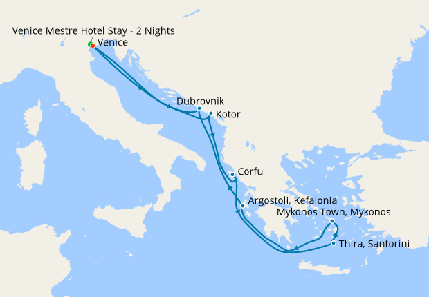 Greek Isles, Croatia & Montenegro with Venice Stay