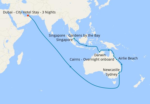 how far is singapore to australia