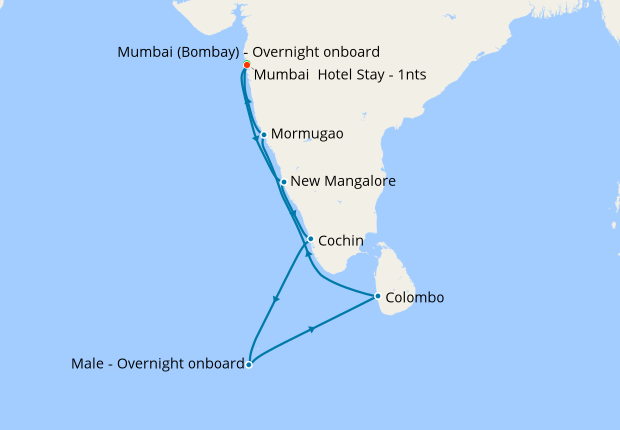 Maldives India And Sri Lanka With
