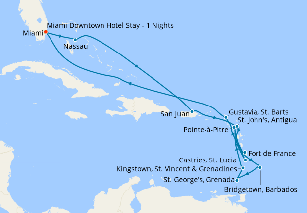 Caribbean Charms from Miami, 12 January 2021 | 16 Nt