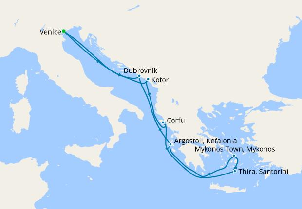 Greek Isles, Croatia & Montenegro from Venice