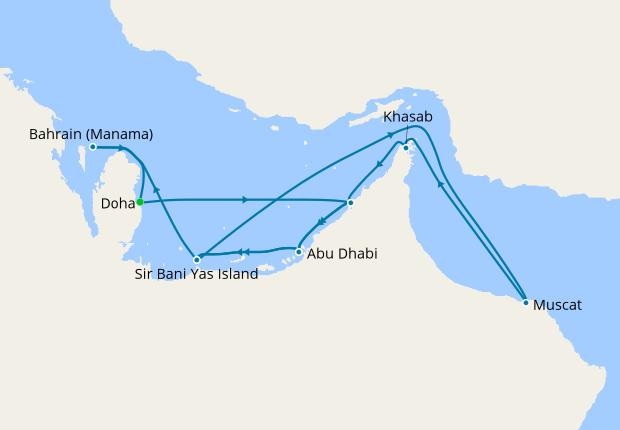 Dubai, Abu Dhabi & Oman from Doha, 11 December 2019 | 15 Nt