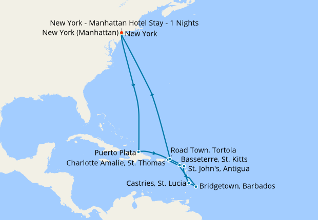 Norwegia Chruises Christmas 2020 Christmas & New Year's Southern Caribbean from New York, 21