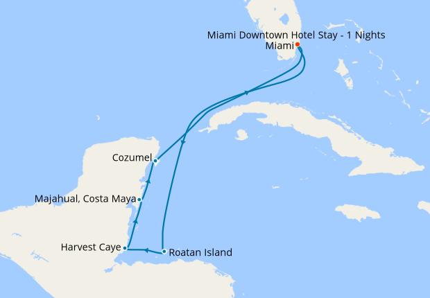 The Yucatan Peninsula from Miami