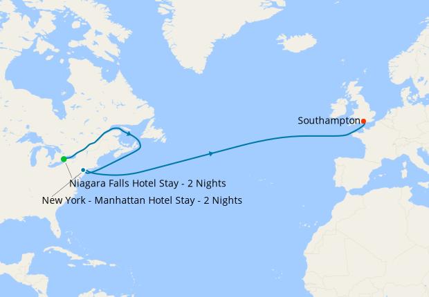 Niagara Falls New York To Southampton 04 Dec 2020