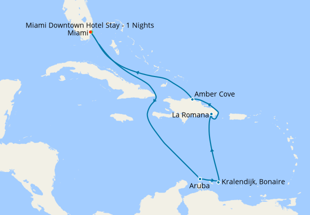 Southern Caribbean Cruise 2020.Exotic Southern Caribbean From Miami 12 Jun 2020