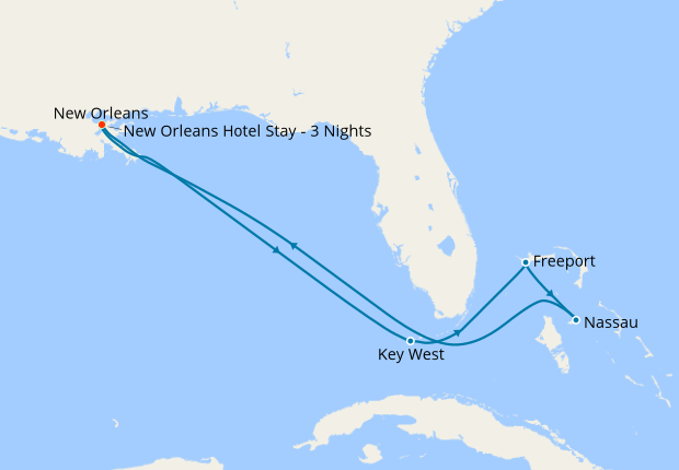New Orleans Stay & Eastern Caribbean , 9 April 2020 | 11 ...