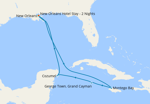 New Orleans Stay & Western Caribbean, 7 August 2020 | 10 ...