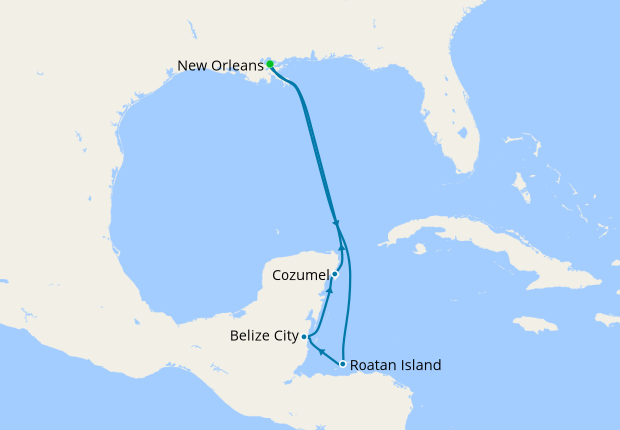 New Orleans Stay & Western Caribbean, 14 August 2020 | 10 ...