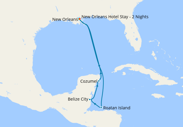 New Orleans Stay & Western Caribbean, 23 October 2020 | 10 ...