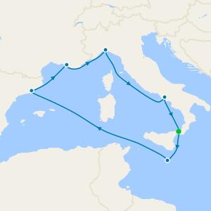 Italy, Malta, Spain & France from Messina