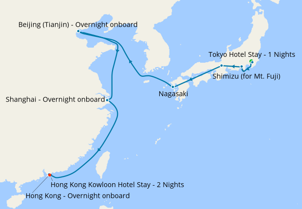 Tokyo & Northeast Asia to Hong Kong with Stays, 6 May 2020