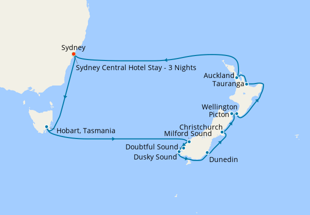 Australia & New Zealand from Sydney with Stay, 19 February