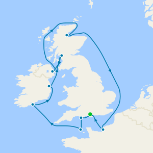 British Isles from Southampton