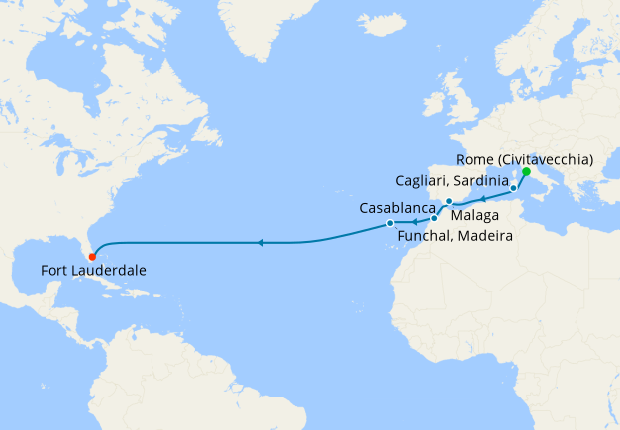 Moroccan Passage from Rome to Ft. Lauderdale