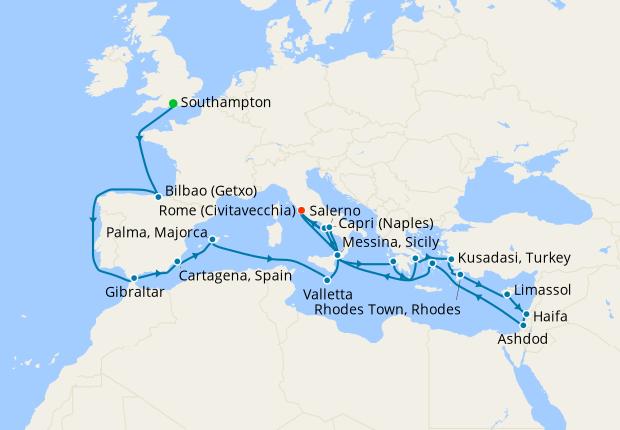 Grand European Explorer from Southampton