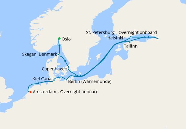 Baltic & St. Petersburg Voyage from Oslo