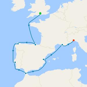 Southampton to Spain, Portugal, Morocco & Italy