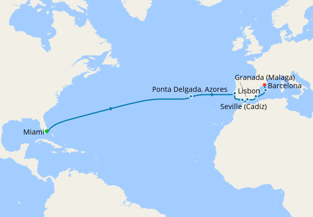 Atlantic Crossing from Miami to Barcelona