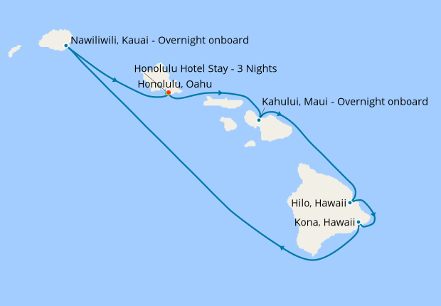 Hawaii Roundtrip from Honolulu with Stay