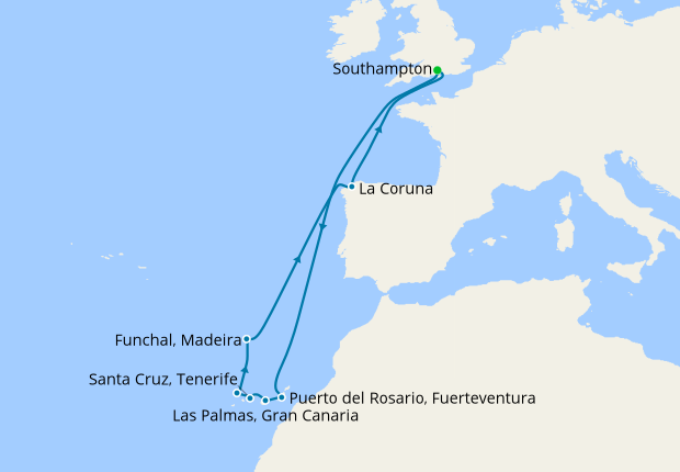 Christmas & New Year Canary Islands from Southampton