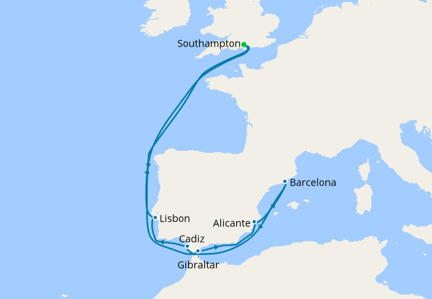 Spain & Portugal from Southampton