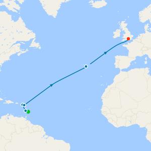 Transatlantic Crossing from Barbados to Southampton