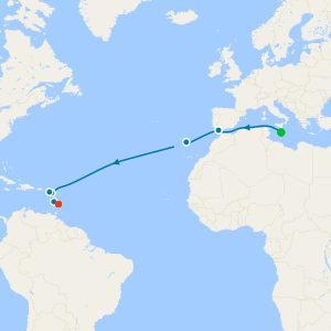 Caribbean Transatlantic from Malta to Barbados