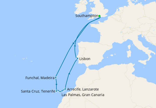 Canary Islands & Portugal from Southampton