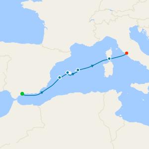 Ibiza, Palma de Majorca and Corsica to Rome