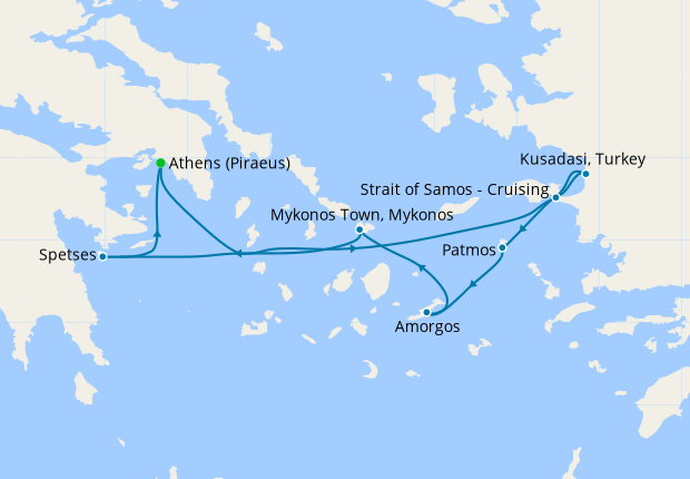 Northern Cyclades from Athens