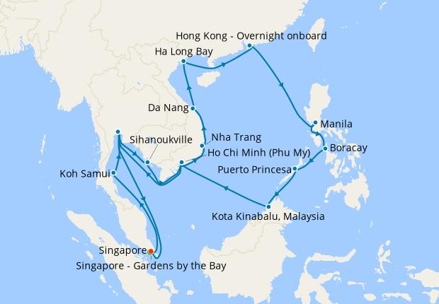 Philippines Borneo Thailand Vietnam