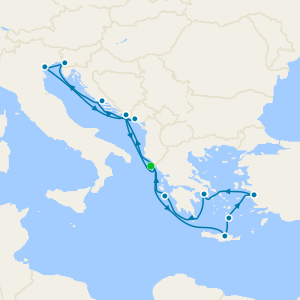Aegean Shores & Adriatic Explorer from Corfu