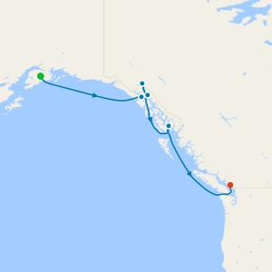 Southbound Alaska & Hubbard Glacier from Seward