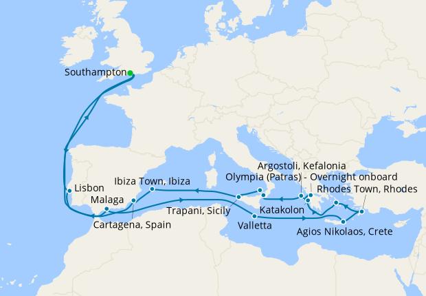 Itinerary Map