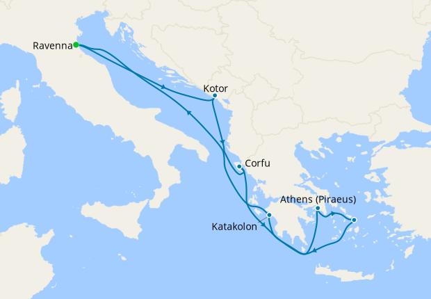 Greek Isles from Ravenna