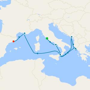Eastern Mediterranean from Rome
