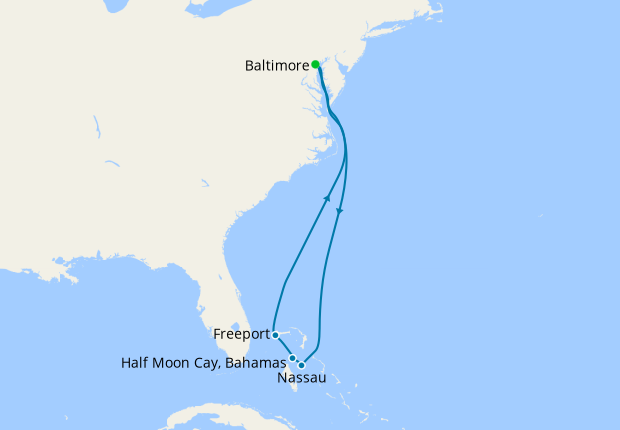 The Bahamas from Baltimore