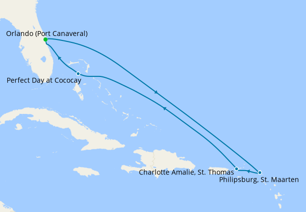 Eastern Caribbean with Perfect Day from Port Canaveral