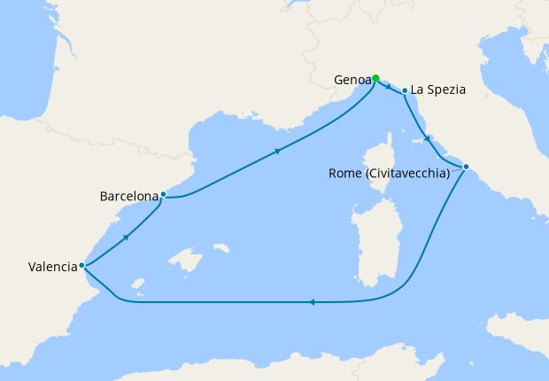 Italy, Spain & France from Genoa, 27 September 2021 | 7 Nt ...