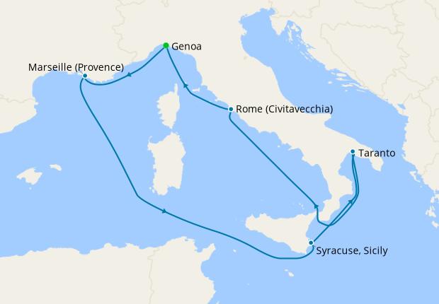 Italy & France from Genoa