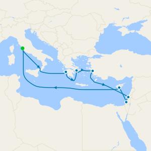 Israel & Mediterranean from Rome