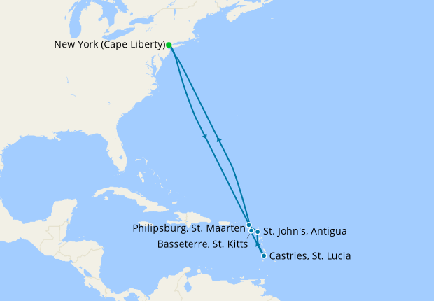 Southern Caribbean from New York