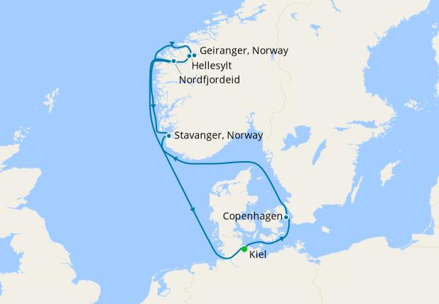 Denmark & Norway from Kiel